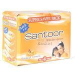 Santoor Sandal and Turmeric Soap 100 gm Pack of 4