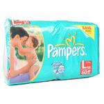 Pampers Large-60 pads 60 pads